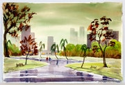 1940'S Skyline: a Walk in the Park (0036).