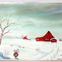 Red Barn at Christmas (0038). The William Frederick Brooks Collections