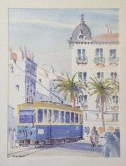 En tram à Marseille. Stéphan Fraiteur