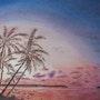 Palmiers rougeoyants. Geoffroy Jooris