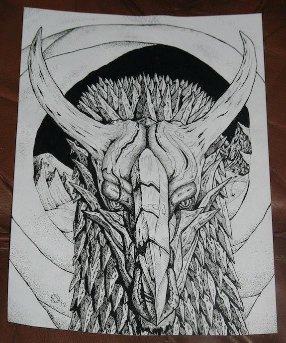 Iruunfraaust (The Ice Dragon). Martin Jaques Dragonz Art