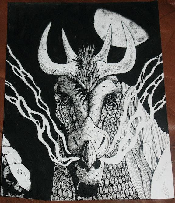 Draariaun (The Burrow Dragon). Martin Jaques Dragonz Art