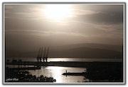 Lever du Soleil et les Bateaux au Port de Tanger….