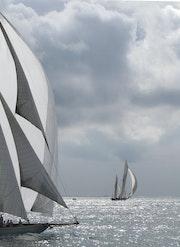 Régate en baie de Cannes. Solena432