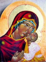 Vierge de tendresse (Icône). Sandrine Aulagnon
