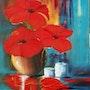 Bouquet d'amaryllis 25p. Christiane Thezier