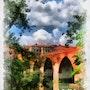 Albi, le pont vieux sur le Tarn. Créartiss/créactif