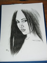 Vikki (a portrait in Ink).