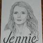 Jennie (a portrait with added title name). Dragonz Art