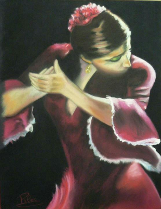 Bailarina Flamenca.  Maria Pilar Cosgaya