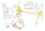 Jeux d'enfants : La lanterne magique.