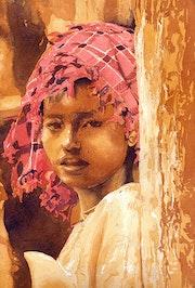 Jeune fille birmane.