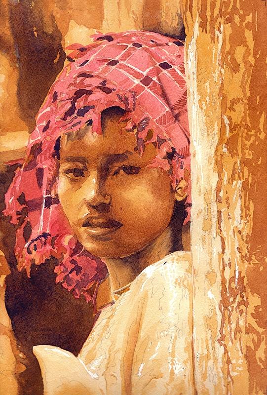 Jeune fille birmane. Jerome Evrard Je