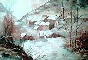 «Suc et Sentenac sous la neige» (Ariège).