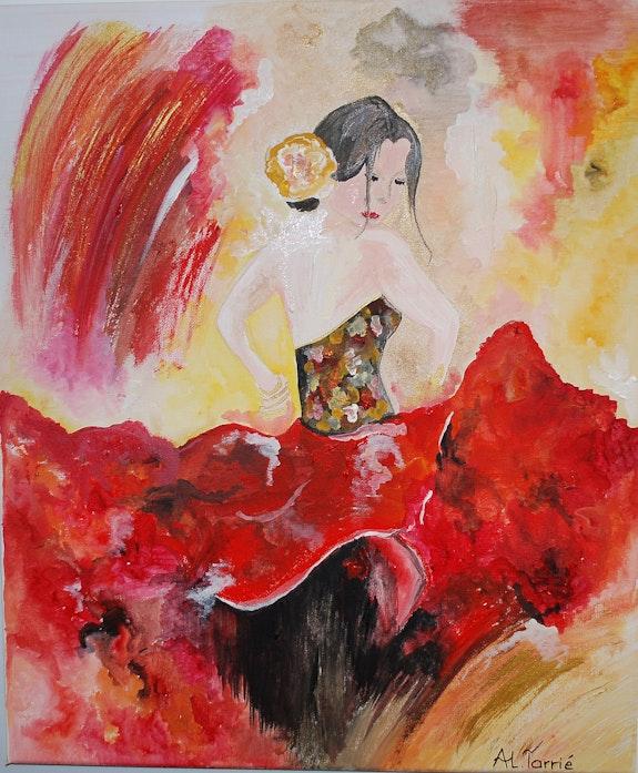 La danseuse de flamenco. Anne-Lucie Tarrié Altarrié