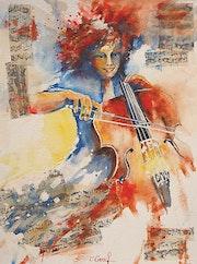 Violoncelliste en Folie.