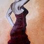 Danseuse de Flamenco en pleine lumière n° 221 10/2012. Jean Claude Ciutad-Savary. Artiste Peintre