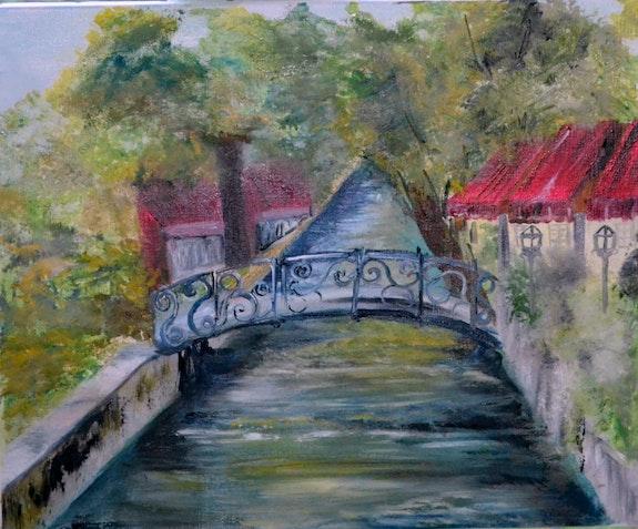Au bord du canal. Corinne Cosserat Corinne Cosserat Delorme