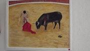 Course de taureau a Nimes.
