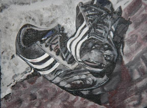 Les chaussures d'Antoine. Amdv Anne-Marie Vandorpe Deligne