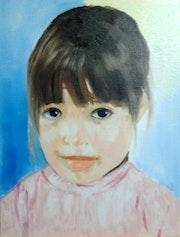 Maelys portrait de ma petite fille.