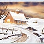 1940'S California School Watercolor: Winter Home in the Gold Country (0065). The William Frederick Brooks Collections