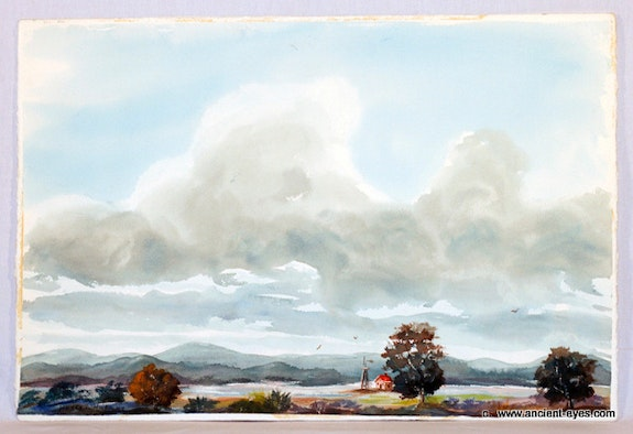 1940'S American School : The Big Sky (0070). Unknown -Unsigned (From The Robert Landry Collection) The William Frederick Brooks Collections