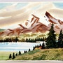 1940'S -1950's American School : Alpine Lake (0072). The William Frederick Brooks Collections
