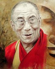 Dalaï-lama (Un portrait fait pour les 34 ans de Stéphane, mon fils aîné).