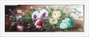 Branchage de cerisier, roses, viburnum.