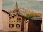 Evolène et son village.