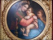 La Vierge à la chaise d'après Raphaël. Marc Menzoyan Antiquités