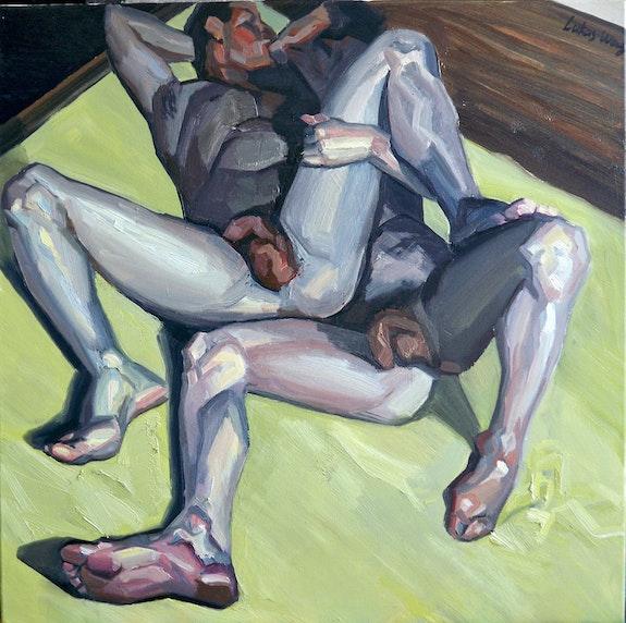 Küssendes Männerpaar. Lukas Wang Galerie Liebreiz