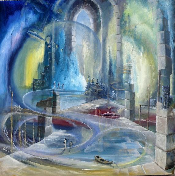 Kathedrale der Begegnung auf keltischem Ornament. Klonowski Peter Peter Klonowski