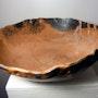 Grande coupe en argile, raku rouge. Atelier-Chrisalina: Aline Arnaud