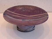 Coupe présentoir en gré raku : Ciruela.