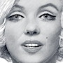 Marilyn in black and white design. Créartiss/créactif