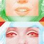 Swing colors on Marilyn. Créartiss/créactif