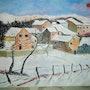 Petit village sous la neige. Salsera