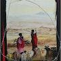 Gardienne de chèvres Massaï. M. Bodens