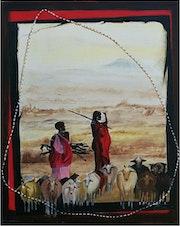 Gardienne de chèvres Massaï.