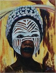 Masque rituel en Casamance. M. Bodens