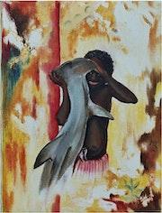 Pêcheur de requins- (Nouvelle Guinée).