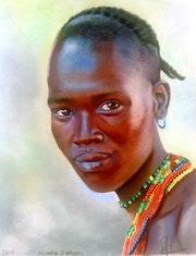 «Beauté d'Ethiopie», d'après une photo de Claude Gourlay.