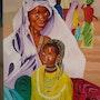 Afrique : la mère et l'enfant. Marès