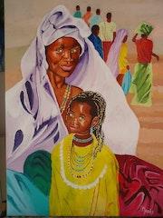 Afrique : la mère et l'enfant.