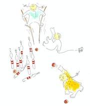 Jeux d'enfants : Les quilles.