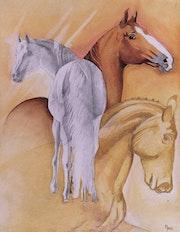 Le trio de chevaux.