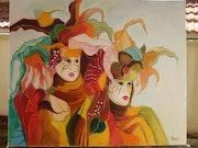Venise : le couple masqué.