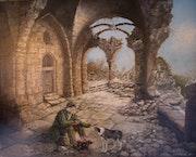 Dans les ruines del'abbaye. Art d'antan